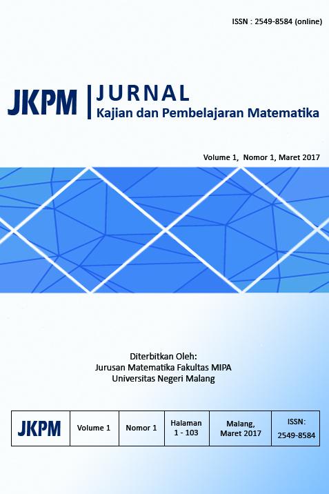 Jurnal Kajian Pembelajaran Matematika