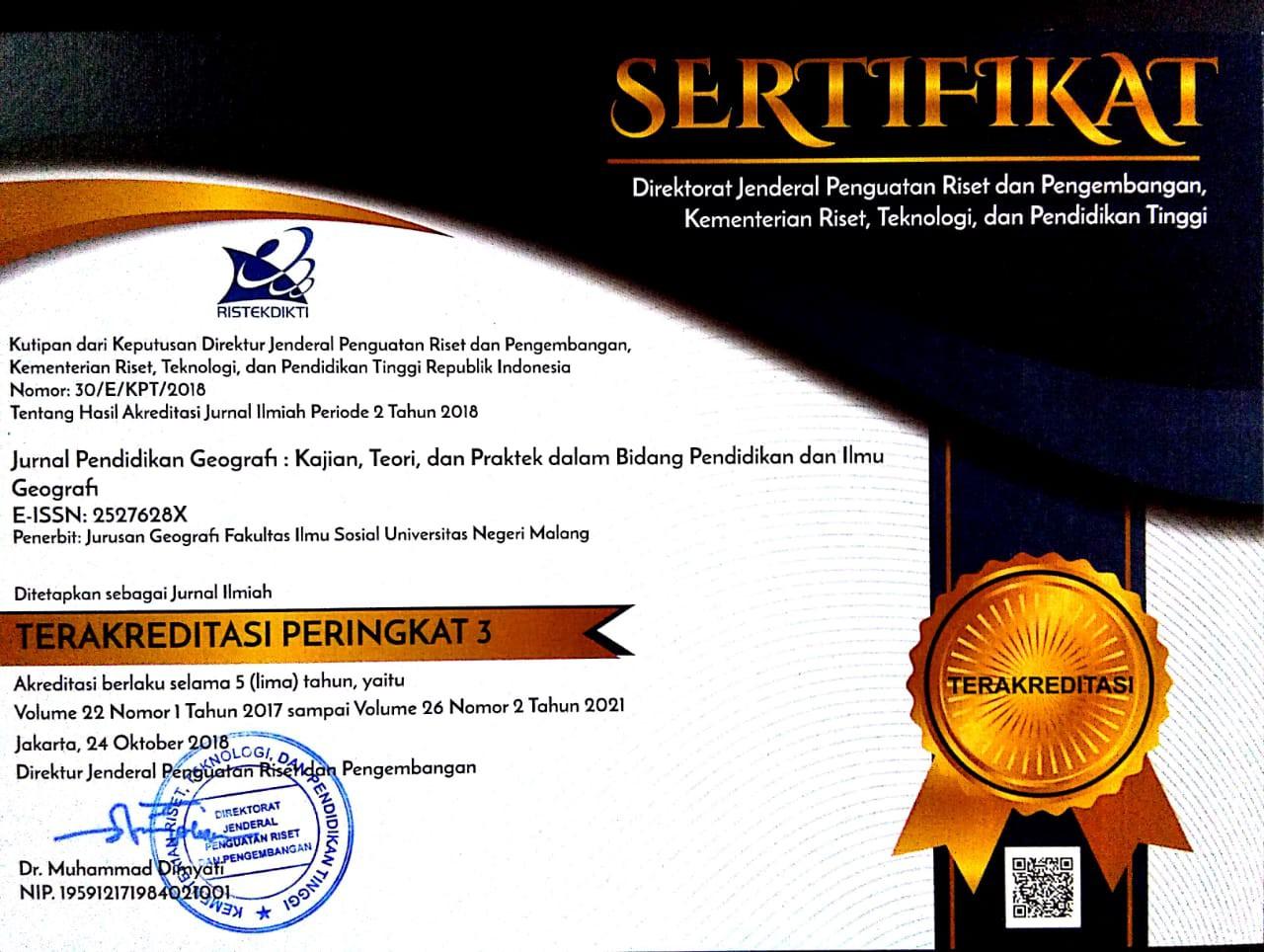 Jurnal Pendidikan Geografi Kajian Teori Dan Praktek Dalam Bidang Pendidikan Dan Ilmu Geografi